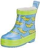Playshoes Bota de Agua Cocodrilo, Botas de Goma de Caucho Natural Unisex niños, Azul (Blau 7), 23 EU
