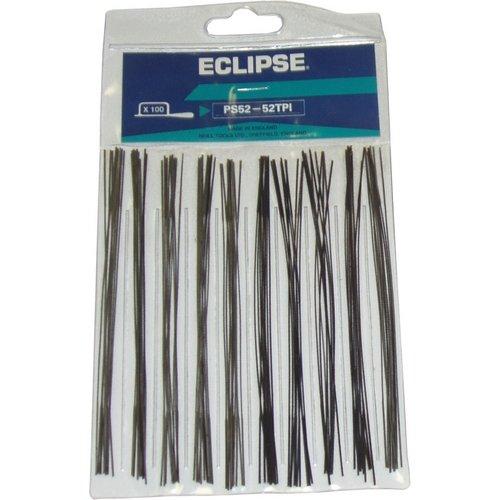 Eclipse PS52 Lot de 100 lames de scie à chantourner 52 tpi