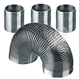Kicko Metal Coil Spring Walking Spring Toy - 4 Pack - Novelty, Prize, Party Favor for Kids Teens and Adults