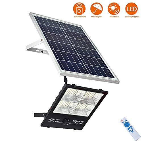 FNHGNG Luz Solar LED Exterior, Foco Solar LED Luz con cámara WiFi 1080P Luces de Seguridad el Atardecer hasta el Amanecer, IP67 Impermeable, con Placa Solar Jardín Patio Terraza Camping,200W