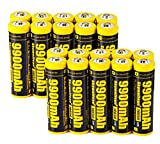 20 PCS of 18650-Rechargeable-Batteries,9900mAh 3.7V Li-ion,Button Top,65mmX18mm,For 18650 Flashlight headlight & Electronic Tools