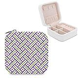 Graziosa scatola portagioie viola verde e oro a forma di cestello per gioielli, scatola portagioie, anelli, orecchini, collana organizer in pelle PU, per donne e ragazze