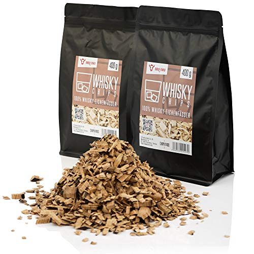BBQ-Toro Whisky Smoker Chips (800 g) Whisky Räucherchips | rauchintensive Smokerchips aus Eichenfässern | Grillchips für Gasgrill, Smoker, BBQ
