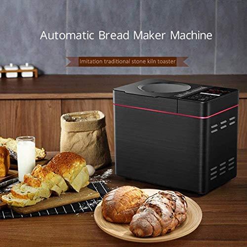 YUI Brotbackmaschine, Brotbackautomat, 600 Watt, Einstellbarer Bräunungsgrad, Timer, 22 Backprogramme, antihaftbeschichtet, LCD-Display