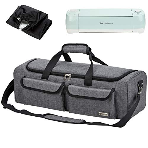 HOMEST Carrying Case Compatible with Cricut Explore Air 2, Cricut Maker, Silhouette CAMEO3, Grey (Patent Design)