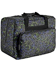 Sewing Machine Carrying Case Tote Bag,Universal Nylon Carry Bag, Universal Padded Storage Cover Carrying Case with Pockets and Handles (Black)