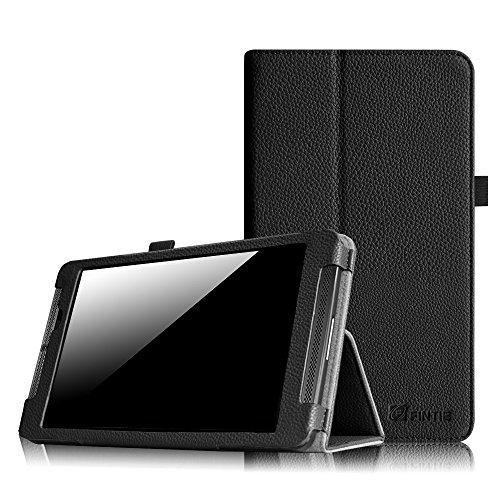 """Fintie NVIDIA Shield Tablet K1 Folio Case - Slim Fit Vegan Leather Cover for 2015 NVIDIA Shield Tablet K-1 8.0-Inch (Newest Version) / Fit for 2014 NVIDIA Shield 2 8"""" Tablet, Black"""