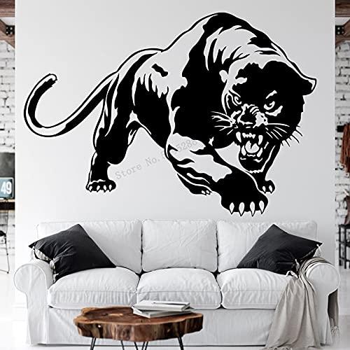 Pantera negra leopardo guepardo animal salvaje bestia jungla depredador etiqueta de la pared vinilo coche calcomanía niño dormitorio sala de estar estudio oficina decoración del hogar mural