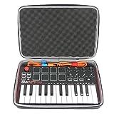 DJDKZQ Caso 25-Key USB Ultra-Portatile Midi Drum Pad Keyboard Controller Disco per Bagagli di Viaggio di Trasporto Borsa di Protezione Professionale MPK Mini MKII (Nero)