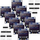 10 Módulos OLED Pantalla de Visualización Autoluminoso en Serie IIC I2C de Controlador SSD1306 Compatible con Arduino Raspberry PI (Azul y Amarillo, 0,96 Pulgadas)