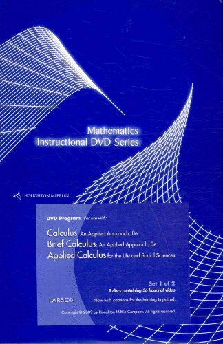 Calculus + Brief Calculus + Applied Calculus: An Applied Approach, For the Life and Social Sciences (Mathematics Instruc