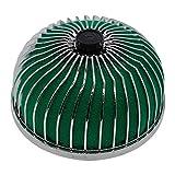 Autopartes Filtro universal 76MM del coche de Aire Limpio de admisión de alto flujo de aire del coche Ronda Cono filtro de la toma kit de inducción de seta Coche de filtro de air (Color : Green)