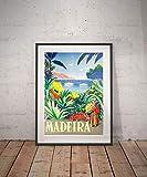 Rac76yd Madeira Madeira Reise-Poster Wanddekoration Vintage