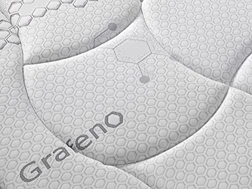 Colchón viscoelástico Future Grafeno | Colchón de 30 cm de Grosor |3 centímetros de viscoelástica Grafeno | Colchón de firmeza Media Alta | 5 Capas de Espumas Premium | (135x190)