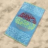 Sibiles - Toalla de Playa Grande Eco con Algodón Reciclado 100x170 cm Change...