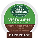 Keurig Green Mountain Coffee Roasters Vista 44N Espresso Roast Coffee, Single-Serve Keurig K-Cup Pods, 6 Count (Pack of 8)