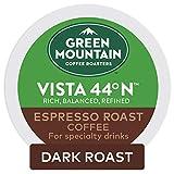 Keurig Green Mountain Coffee Roasters Vista 44°N Espresso Roast Coffee, Single-Serve Keurig K-Cup Pods, 8 Pack (48 Count)