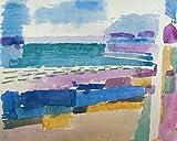 Kunstdruck/Poster: Paul Klee Badestrand St Germain bei