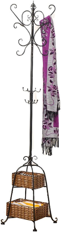 DQMSB Coat Rack Creative Wrought Iron Multi-Purpose Household Hanger Coat Racks (color   Black)