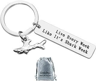 Shark Keychain Shark Lover Gift Shark Stuff Diver Gifts Shark Lovers Keychain Shark Girl Jewelry Coworker Friends Keyring ...