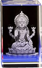 ZGPTX Crystal 3D Laser Statue Decor Gift India Thailand Buddha Statue India Shiva Figure Crystal Inner Carving