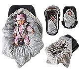 BABEES© WINTER Einschlagdecke mit Füllung für Babyschale Autositz