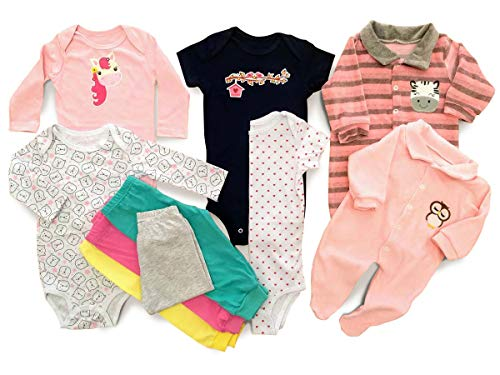 Body Bebê Mijão Liso Estampado Kit 10 Pçs Roupa Bebê Meninas Tamanho:P