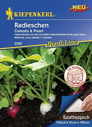 Saatteppich Radieschen Celesta & Pearl (15cm x 150cm)