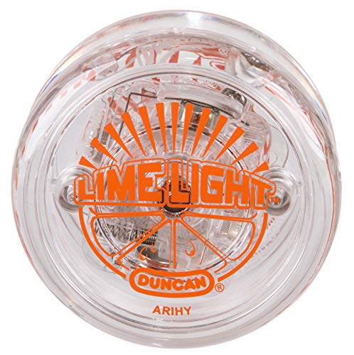 Duncan Toys Limelight LED Light-Up Yo-Yo, Beginner Level Yo-Yo with LED Lights, Clear and Orange