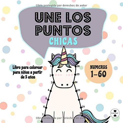 Une los puntos - Chicas: Libro para colorear para niños a partir de 5 años (Unir puntos para niños)
