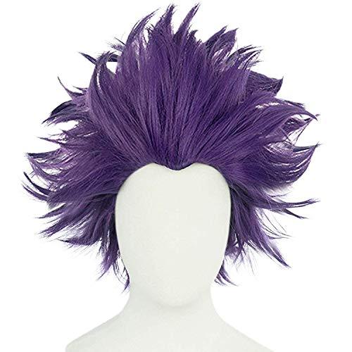 JoneTing Purple Wig Short Wavy Wigs Purple Wig Cosplay for Kids Girl Synthetic Wigs Hair