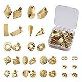 24 pendientes de acero inoxidable de Cheriswelry. Pendientes dorados, con forma de mariposa, para hacer joyas.