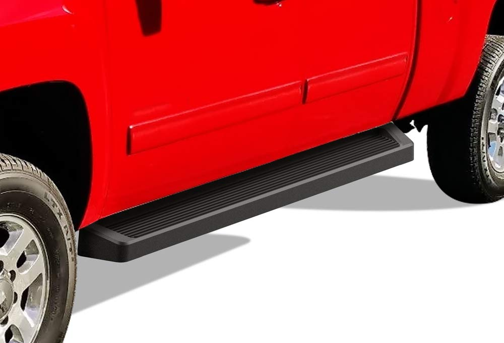 Nerf Bars Side Steps Side Bars APS iBoard Running Boards 4 inches Matte Black Custom Fit 2007-2018 Chevy Silverado GMC Sierra Double Extended Cab /& 2019 2500 3500 HD Exclude 07 Classic