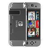 MoKo Nintendo Switch Case, Set Custodia Protettiva Cover Traspante Rigida Antiurti Antigraffi Accessori per Nintendo Switch Console (2017) - Trasparent