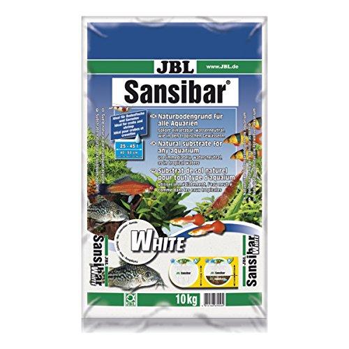 JBL Sansibar White 67056, Bodengrund Weiß für Süßwasser-Aquarien, 10 kg