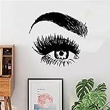Salón de belleza pestañas y cejas ojos vinilo pegatinas de...