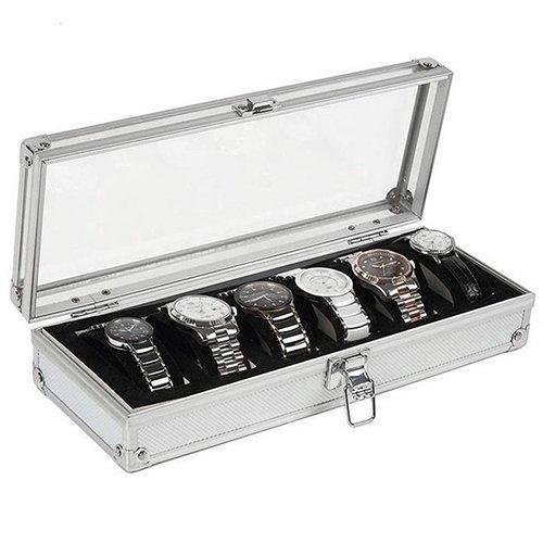 HuhuswwBin Watch Box, Aluminiumgehäuse...