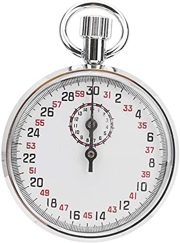 HSJ Temporizador de cronómetro Metal mecánico Mecánico Redondo Temporizador de Funcionamiento, cronómetro mecánico fácil de Usar Preciso