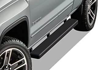 APS iBoard Running Boards 5 inches Matte Black Custom Fit 2007-2018 Chevy Silverado GMC..