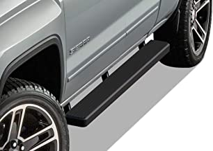 APS iBoard Running Boards 5 inches Matte Black Custom Fit 2007-2018 Chevy Silverado GMC Sierra Double Extended Cab & 2019 2500 3500 HD (Exclude 07 Classic) (Nerf Bars Side Steps Side Bars)