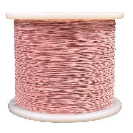 MSS Litz Wire, S. Nylon/S. Nylon, AWG 20, 165/42 (5/33/42), 12 TPF, Type 2, Color: Red, (155ºC) Rating