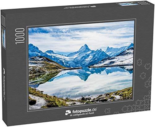 fotopuzzle.de Puzzle 1000 Teile Schweizer Alpen Wasserreflexion am Bachalpsee - Bergsee über Grindelwald, Schweiz (1000, 200 oder 2000 Teile)