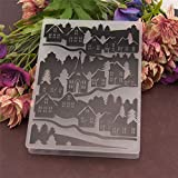 Welcome to Joyful Home 1PC House Forest Background Embossing Folder for Card Making Floral DIY Plastic Scrapbooking Photo Album Card Paper DIY Craft Decoration Template Mold