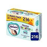 Nenuco Dermosensitive - Toallitas bebé para pieles sensibles, sin alcohol - 216...
