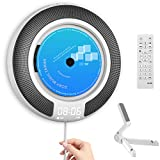 CD Player Portable with Bluetooth Built-in HiFi Speakers and OLED Display, Desk/ Wall