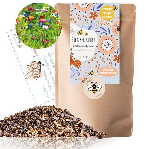 Blumensamen I 500g I 500m² Blumenwiese Samen mehrjährig und einjährig I Samen für Bienen Blumenmischung I Wildblumensamen für Balkonblumen und Wildblumen I bunte Bienenweide I Bienenwiese