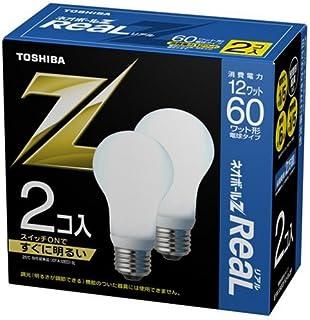 東芝 ネオボールZリアル 電球形蛍光ランプ ボール電球60ワットタイプ 昼光色 2個パック EFA15ED/12-R-2P