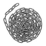 POFET Catena di sollevamento in acciaio inox 304 da 5 m, adatta per catena di ancoraggio, guardrail, catena a dondolo, catena per animali domestici, vestiti da appendere (2 mm)