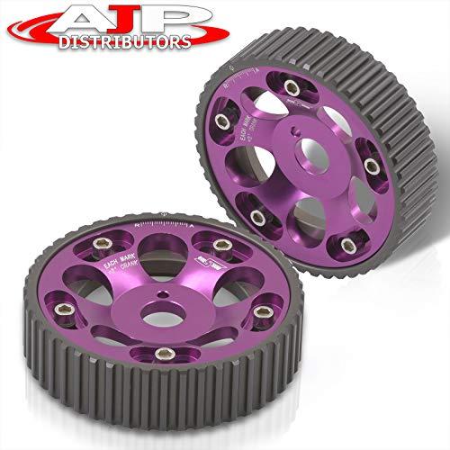 AJP Distributors Adjustable Cam Gears Timing Gear Pulley Kit Purple For Supra 1JZ 2JZ TE