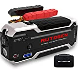 AUTOGEN 4000A 32000mAh Car Jump Starter (10.0L+ Gas & Diesel), 12V Battery Jumper Box Booster Pack, USB Quick Charge 3.0 Charger, Portable Power Pack for Cars, SUVs, Trucks